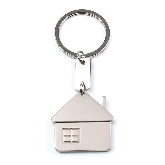 1x huis sleutelhanger 3 5 cm